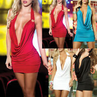 Donne Sexy V-Neck Bandage Bodycon Evening Party Cocktail Club Mini Short Dress