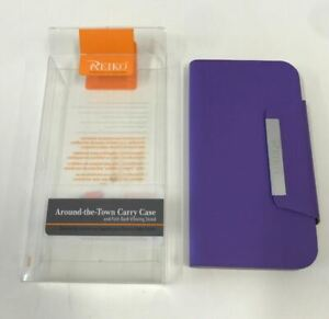 Reiko Magnet Flip Smooth Leather Case for Samsung Galaxy S4 - Purple