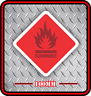 FLAMABLE STICKER VINYL DECAL NOT A SIGN SAFETY SIGNAGE BNIP ***FREE POSTAGE***