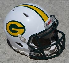 GREEN BAY PACKERS WHITE SPEED CONCEPT MINI HELMET W/ FOREST MASK