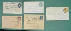 INDIA STAMP COVERS SELECTION OF 5     (R181)