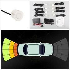 12V White 8 Parking Sensor Off-Road Radar Reversing System Alarming Kit For Jeep