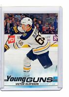 VICTOR OLOFSSON 2019-20 Upper Deck Hockey Series 1 Young Guns Rookie Card # 207