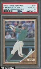 2011 Topps Heritage  #49 Christian Yelich Brewers RC Rookie PSA 10 GEM MINT