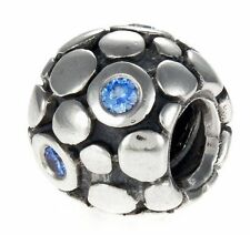 AUTHENTIC PANDORA BLUE BUBBLE CHARM BRAND NEW #790329CZB SILVER RETIRED F/SH