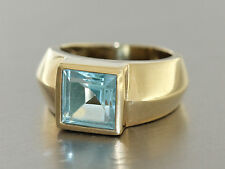 Ring Gold 585 mit Blautopaz - Goldring in 14 kt Gold mit Topaz