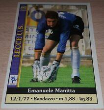 CARD CALCIATORI MUNDI CRONO 2001 LECCE MANITTA CALCIO FOOTBALL SOCCER ALBUM