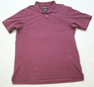 XLT Red Pocket Polo Shirt Short Sleeve Mens Cotton Extra Large Tall Eddie Bauer