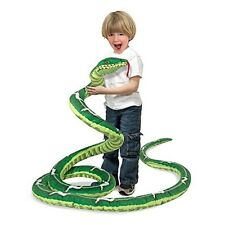 Kids Doll Life Size Green Boa Constrictor Snake Soft Big Stuffed Animal