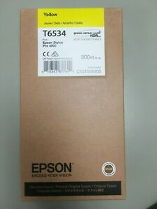 T653400-Epson Ultrachrome HDR Yellow Ink Cartridge (200 ml), T6534, 03/2019
