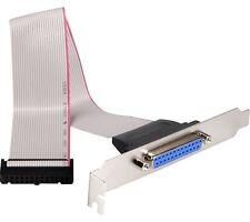 Slotblech Parallel Drucker Port 25 pol Sub D Buchse LPT Flachbandkabel 0,25m