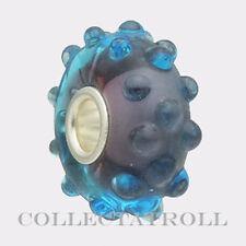Authentic Trollbeads Silver Blue Fizz Trollbead  61332