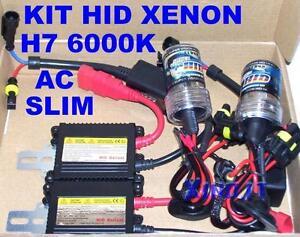 KIT HID XENON H7 6000K 35W CENTRALINE AC SLIM BALLAST LUCI XENO 6000 ° K H 7 12V