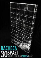 Bacheca/Vetrina in plexiglass Scala 1:43 modellini senza base - 30 moduli