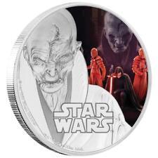 Niue 2 Dollar 2017 The Last Jedi Supreme Leader Snoke Star Wars 1 Oz Silber PP