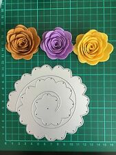 "D041 5"" Quilling Roll Up Flower Cutting Die For Sizzix Spellbinders Ect.Machine"