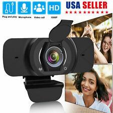 1080P Full HD USB Autofocus Webcam Camera w/Stereo Microphone for Laptop Desktop