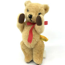 Deans GwenToy Uk Teddy Bear Mohair Plush 20cm 8in Seam Label 1970s Jointed Vtg