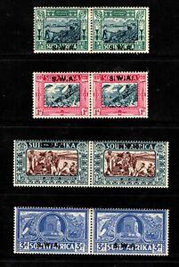 1938 South West Africa Sc #B5-B8 Voortrekker Semi-Postals Mint HR; SCV $109.00