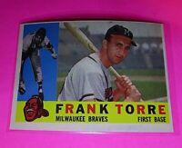 1960 Topps #478 Frank Torre Braves NmMt High Grade Sharp!