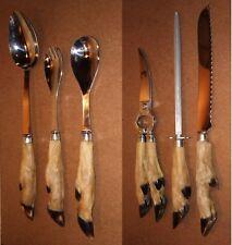 Couverts PIED DE BICHE cuillère sécateur aiguiseur couteau pain déco chasseur