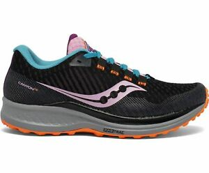 Saucony Canyon TR Women's Trail Running Shoes, Future Black