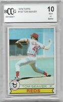 PRISTINE 1979 TOPPS #100 REDS TOM SEAVER PSA BCCG 10 GEM MINT or BETTER HOF