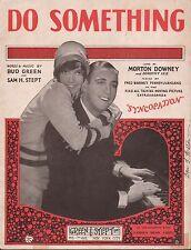 """MORTON DOWNEY film song SYNCOPATION """"Do Something"""" DOROTHY LEE ukulele 1929"""