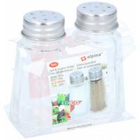 Pequeño Vaso De Sal Y Pimienta Shakers Ollas Conjunto de 2 Tapa De Rosca Cuadrada Salt /& Pepper