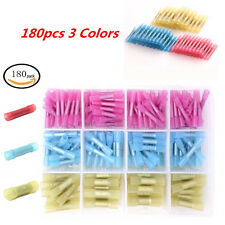 180PCS AWG Nylon Butt Wire Crimp Terminal Connector Electrical Blue Yellow Blue