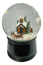 The San Francisco Music Box Company 120 Mm Church Village Snow Globe