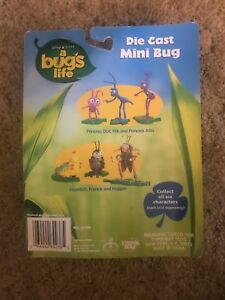 Think Way Toys Bug's Life Die Cast Mini Bug Francis action figure, New!