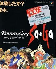 Romancing SaGa Super Famicom SQUARE 1992 JAPANESE GAME MAGAZINE PROMO CLIPPING