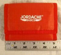 Vtg NOS JORDACHE Basics Red Trifold Nylon Wallet 80's - 90's Retro 9 Pockets