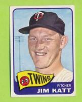 1965 Topps - Jim Katt Kaat (#62)  Minnesota Twins