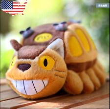 "US! My Neighbor Totoro catbus Cat Bus Ghibli 12"" Plush Stuffed Doll Toy Gifts"