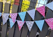 Fabric bunting  Riley Blake Aqua/Pink/grey - photography, wedding, baby, nursery