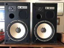 """Vintage AMPEX Speakers with 3 way 12"""" Woofers Speakers Rare"""