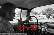 "James Dean~Poster~Car~Lighting Cigarette~Photo~ 20"" x 30"""