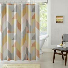 Urban Habitat Annalise Cotton Printed Shower Curtain- 72x72 Orange