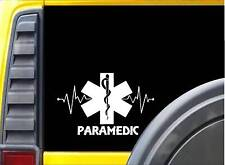 Paramedic Lifeline K337 8 inch decal star of life emt sticker