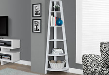 Corner Tiered Bookcase Shelving Unit White Shelves Plant Tower Tall Reclaim Wood