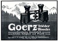 Fernglas Goerz Berlin Friedenau Reklame 1914 Trieder Binocle Werbung Feldstecher