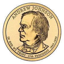 """Presidential Dollar Uncirculated Roll 25 """" D """" Mint #17 2011 Andrew Johnson"""