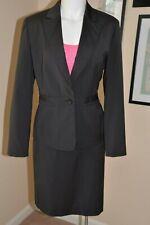 Womens Skirt Suit JONES NEW YORK Black Brown Stripe Business Suit US Size 8