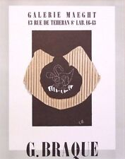 """GEORGES BRAQUE mounted Mourlot lithograph 1959 Affiches Originales 14 x 11"""" AO01"""