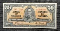 Canada 1937 Coyne Towers BC-26c $50.00 Banknote BH 4521549