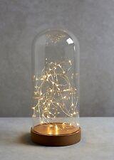 LED di grandi dimensioni Vetro Campana Cupola JAR con Luce Stringa Lampada da Tavolo Decorazione Natalizia