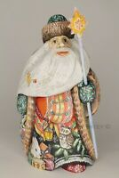 Russian Santa Claus Father Frost Christmas Wooden Hand Carved Miniature Figure
