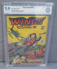 WINGS COMICS #102 (Golden Age War) CBCS 9.0 VF/NM Fiction House 1949 cgc